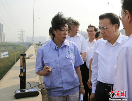Pictured is Chinese Premier Li Keqiang, along with